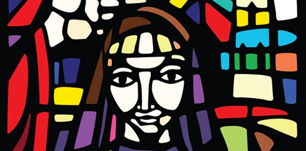 stained glass at St Mary Interparochial School