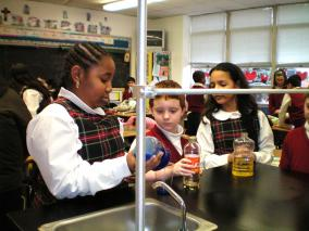 St Mary students science experiment