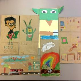 St. Mary Lunch Bag Art project 1