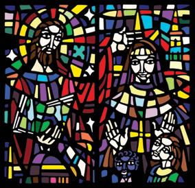 St Mary stained glass doors illustration