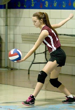 St Marys volleyball serving1